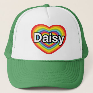 I love Daisy: rainbow heart Trucker Hat