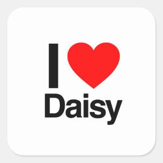 i love daisy square sticker