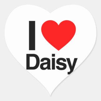 i love daisy heart sticker