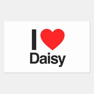 i love daisy rectangular sticker