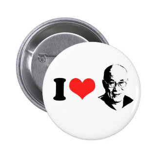 I Love Dalai Lama Pinback Button