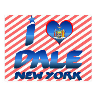 I love Dale, New York Post Cards