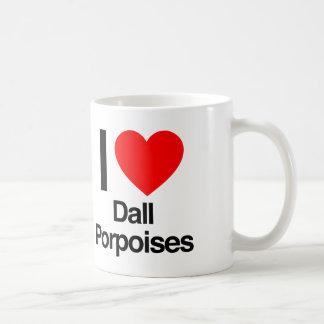i love dall porpoises coffee mug
