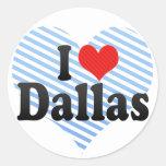 I Love Dallas Classic Round Sticker