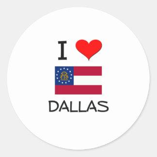 I Love DALLAS Georgia Round Sticker