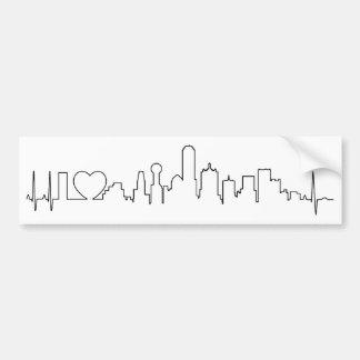 I love Dallas in an extraordinary ecg style Bumper Sticker