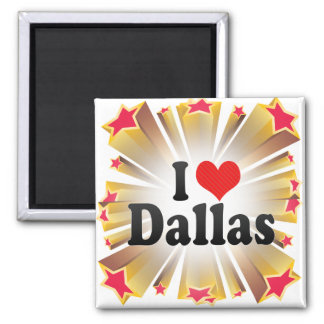 I Love Dallas 2 Inch Square Magnet
