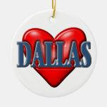 I love Dallas Texas Ceramic Ornament