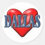I love Dallas Texas Classic Round Sticker
