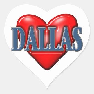 I love Dallas Texas Heart Sticker
