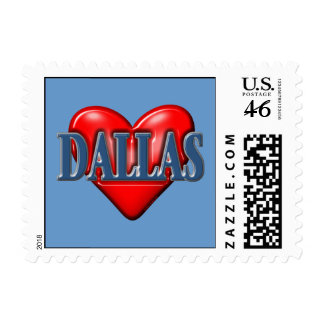 I love Dallas Texas Postage Stamps