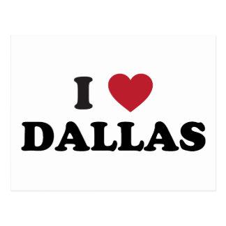 I Love Dallas Texas Postcard