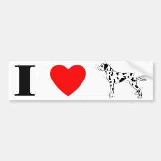 I Love Dalmatians Car Bumper Sticker