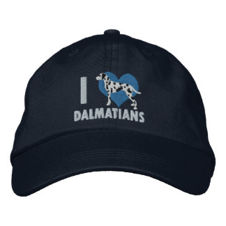 I Love Dalmatians Embroidered Hat (Blue)