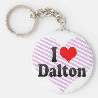 I love Dalton Basic Round Button Keychain