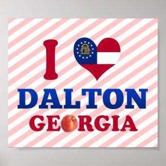 I Love Dalton, Georgia Print