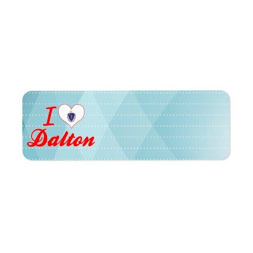 I Love Dalton, Massachusetts Custom Return Address Labels