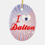 I Love Dalton, Massachusetts Christmas Tree Ornaments