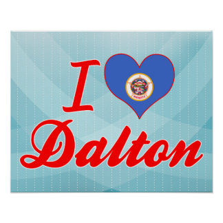 I Love Dalton, Minnesota Poster
