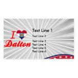 I Love Dalton, Missouri Business Card Templates