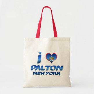 I love Dalton, New York Canvas Bag