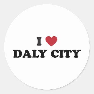 I Love Daly City California Classic Round Sticker