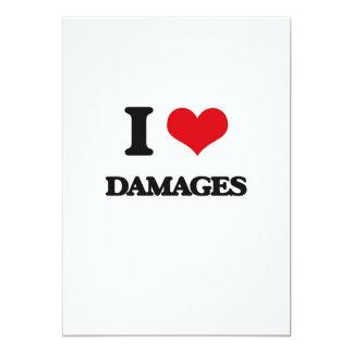 I love Damages 5x7 Paper Invitation Card