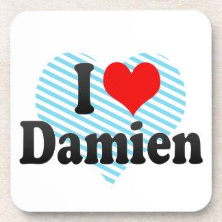 I love Damien Drink Coaster