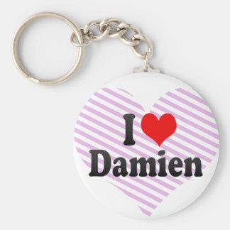 I love Damien Key Chain