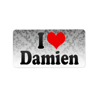 I love Damien Address Label