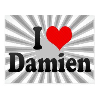 I love Damien Post Card