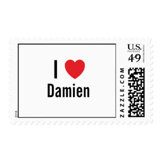 I love Damien Postage Stamp