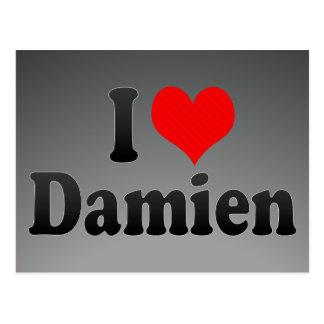 I love Damien Postcards