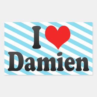 I love Damien Rectangular Stickers