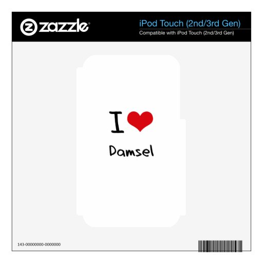 I Love Damsel iPod Touch 3G Skins