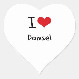 I Love Damsel Heart Sticker