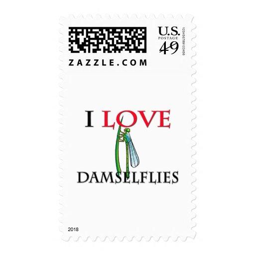 I Love Damselflies Stamp