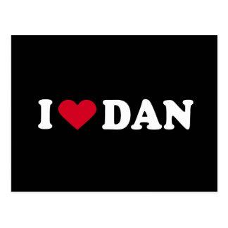 I LOVE DAN POSTCARD