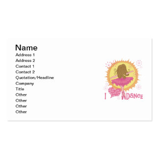 I Love Dance Double-Sided Standard Business Cards (Pack Of 100)