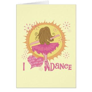I Love Dance Card