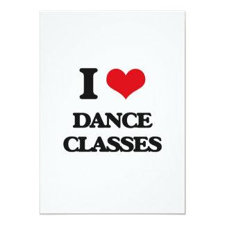 "I love Dance Classes 5"" X 7"" Invitation Card"