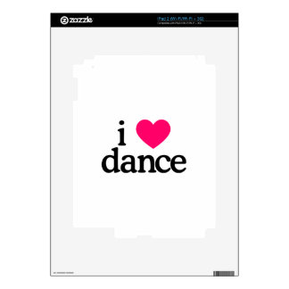 I Love Dance Decals For The iPad 2