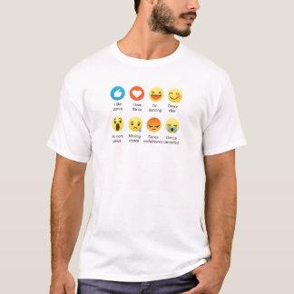 I Love Dance Emoticon (emoji) Social (dark font) T-Shirt