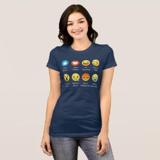 I Love DANCE Emoticon (emoji) Social Icon Sayin T-Shirt