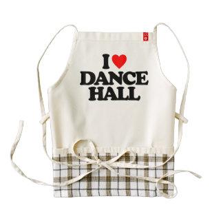 I LOVE DANCE HALL ZAZZLE HEART APRON