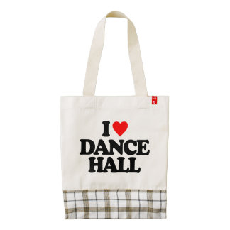 I LOVE DANCE HALL ZAZZLE HEART TOTE BAG