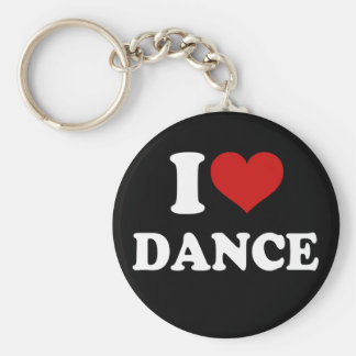 I Love Dance Key Chains