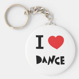 I love dance keychain