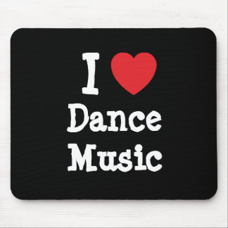 I love Dance Music heart custom personalized Mouse Pad