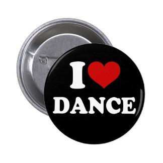 I Love Dance Pinback Button